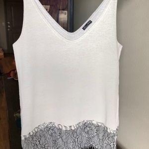 Zara Basic Lace Tank Top